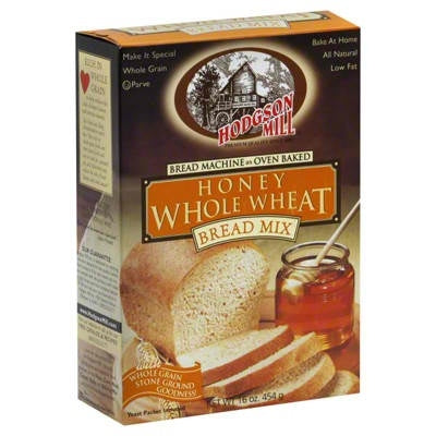 HODGSON MILL: Honey Whole Wheat Bread Mix, 16 Oz - Vending Business Solutions