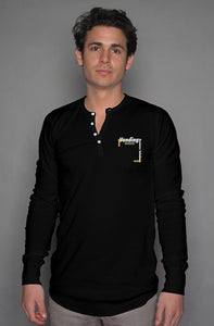 Vending Business Solutions Long Sleeve Henley - Vending Business Solutions