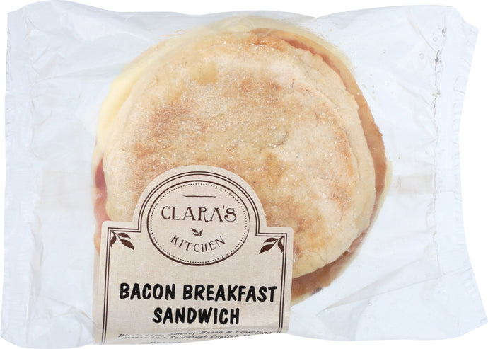 CLARAS KITCHEN: Bacon Breakfast Sandwich, 4 oz - Vending Business Solutions