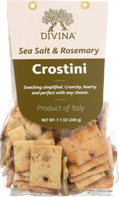 DIVINA: Crostini Rosemary & Sea Salt, 7 oz - Vending Business Solutions