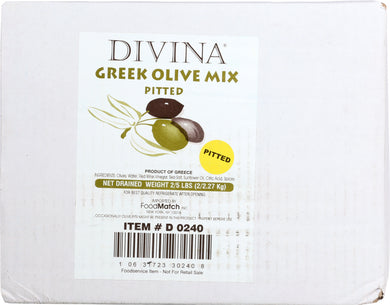 DIVINA: Mix Pitted Greek Olives Bulk, 5 lb - Vending Business Solutions