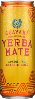 GUAYAKI: Sparkling Organic Yerba Mate Classic Gold, 12 oz - Vending Business Solutions