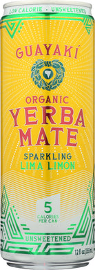 GUAYAKI: Yerbamate Sparkling Lima Limon, 12 fo - Vending Business Solutions