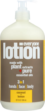 EO PRODUCTS: Everyone 3-in-1 Coconut + Lemon Lotion, 32 oz - Vending Business Solutions