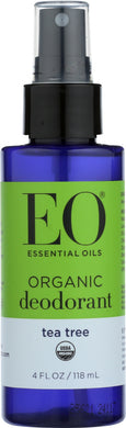 EO: Organic Deodorant Spray Tea Tree, 4 oz - Vending Business Solutions