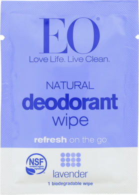 EO: Deodorant Wipe Lavender, 1 ea - Vending Business Solutions