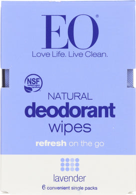 EO: Deodorant Lavender Wipes, 1 ea - Vending Business Solutions