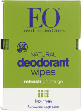 EO: Deodorant Wipes Tea Tree, 1 ea - Vending Business Solutions
