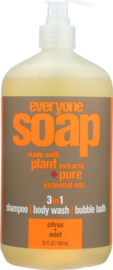 EVERYONE: 3-In-1 Citrus & Mint Soap, 32 oz - Vending Business Solutions
