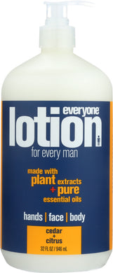 EVERYONE: Lotion for Men 3-in-1 Cedar + Citrus, 32 oz - Vending Business Solutions
