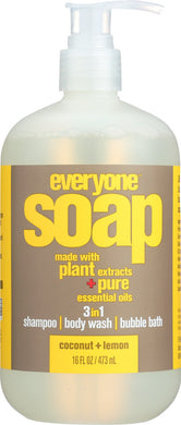 EVERYONE: 3-in-1 Soap Coconut Lemon, 16 oz - Vending Business Solutions