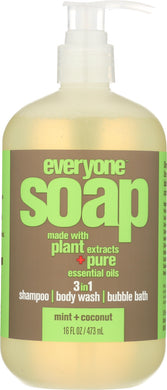 EVERYONE: 3-in-1 Soap Mint Coconut, 16 oz - Vending Business Solutions
