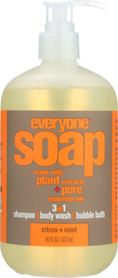 EVERYONE: 3 in 1 Soap Citrus & Mint, 16 oz - Vending Business Solutions