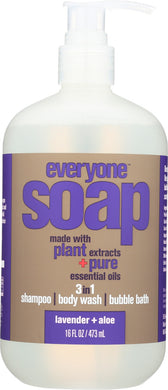 EVERYONE: 3-in-1 Soap Lavender Aloe, 16 oz - Vending Business Solutions