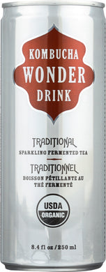 KOMBUCHA WONDER DRINK: Traditional Tea, 8.4 oz - Vending Business Solutions