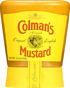 COLMAN'S: Original English Mustard Squeezable, 5.3 oz - Vending Business Solutions