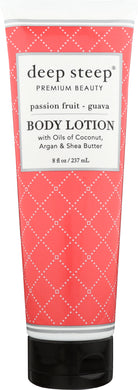 DEEP STEEP: Body Lotion Passion Fruit Guava, 8 oz - Vending Business Solutions