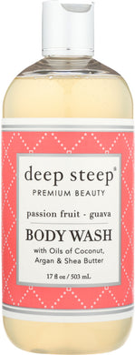 DEEP STEEP: Body Wash Passion Fruit Guava, 17 oz - Vending Business Solutions