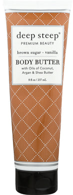 DEEP STEEP: Body Butter Brown Sugar Vanilla, 8 fo - Vending Business Solutions