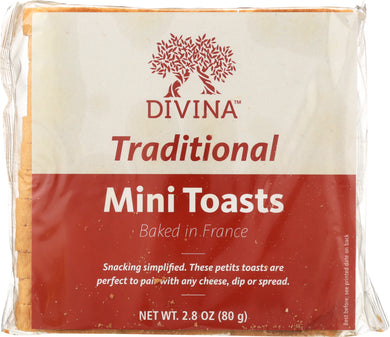DIVINA: Mini Toasts, 2.82 oz - Vending Business Solutions