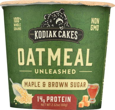 KODIAC CAKES: Maple Brown Sugar Oatmeal Cup, 2.12 oz - Vending Business Solutions