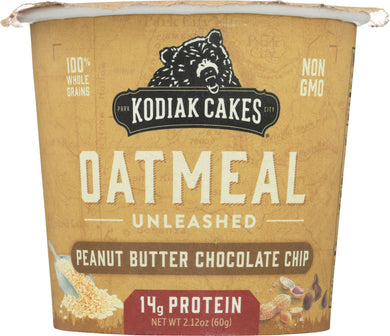 KODIAK: Chocolate Peanut Butter Oatmeal in a Cup, 2.12 oz - Vending Business Solutions
