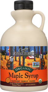 COOMBS FAMILY FARMS: Grade A Organic Maple Syrup Dark Color, 32 oz - Vending Business Solutions