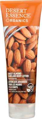 DESERT ESSENCE: Organics Hand and Body Lotion Sweet Almond, 8 oz - Vending Business Solutions