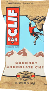 CLIF: Coconut Chocolate Chip Energy Bar, 2.4 oz - Vending Business Solutions
