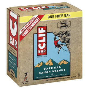 CLIF: Bar Oatmeal Raisin Walnut 7 pk, 16.8 oz - Vending Business Solutions