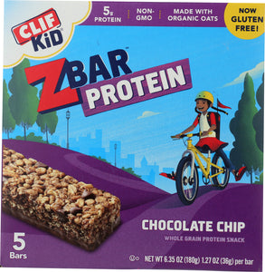 CLIF KID: ZBar Protein Chocolate Chip 5 Count, 6.35 oz - Vending Business Solutions