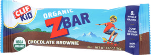 CLIF KID: Organic Zbar Chocolate Brownie, 1.27 oz - Vending Business Solutions