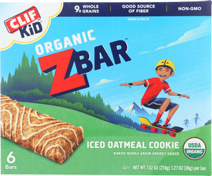 CLIF KID: Zbar Organic Iced Oatmeal Cookie, 7.62 oz - Vending Business Solutions