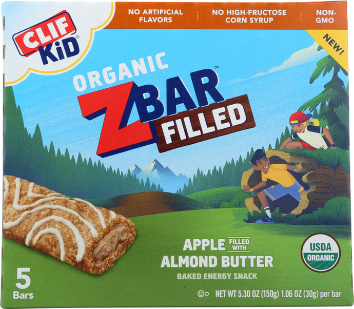 CLIF KID: Bar Filled Apple Almond Butter, 5.3 oz - Vending Business Solutions