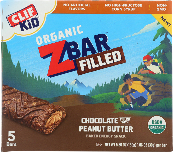 CLIF KID: Bar Filled Chocolate Peanut Butter, 5.3 oz - Vending Business Solutions