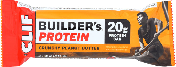 CLIF: Builder Protein Bar Crunchy Peanut Butter, 2.4 oz - Vending Business Solutions