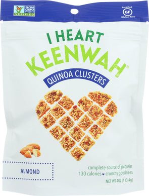 I HEART KEENWAH: Quinoa Cluster Almond, 4 oz - Vending Business Solutions