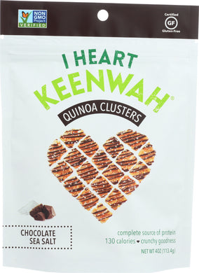 I HEART KEENWAH:  Quinoa Cluster Chocolate Sea Salt, 4 oz - Vending Business Solutions