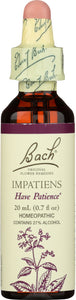 BACH ORIGINAL FLOWER REMEDIES: Impatiens, 0.7 oz - Vending Business Solutions