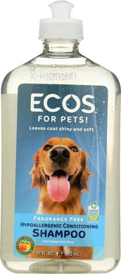 EARTH FRIENDLY: For Pets Shampoo Fragrance Free, 17 oz - Vending Business Solutions