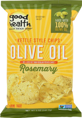 GOOD HEALTH: Kettle Chips Olive Oil Rosemary, 5 oz - Vending Business Solutions