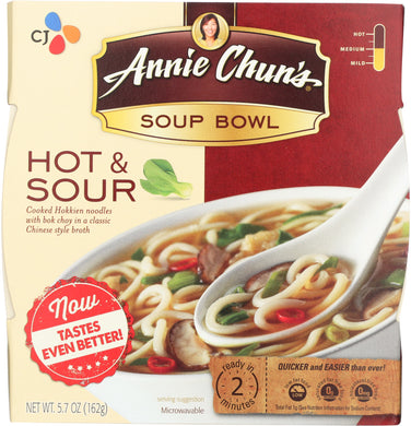 ANNIE CHUNS: Hot & Sour Soup Bowl, 5.7 oz - Vending Business Solutions