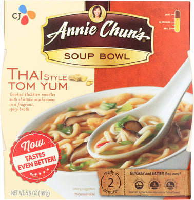 ANNIE CHUNS: Thai Style Tom Yum Soup Bowl, 5.9 oz - Vending Business Solutions