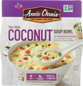 ANNIE CHUNS: Thai Style Coconut Soup Bowl, 6.3 oz - Vending Business Solutions