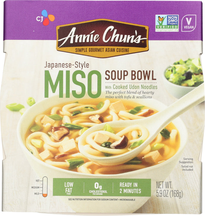 Annie Chuns All Natural Asian Cuisine Soup Bowl Miso, 5.9 Oz - Vending Business Solutions