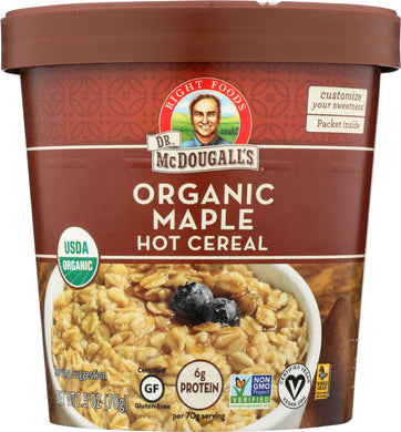 DR. MCDOUGALL'S: Organic Hot Cereal Maple, 2.5 oz - Vending Business Solutions