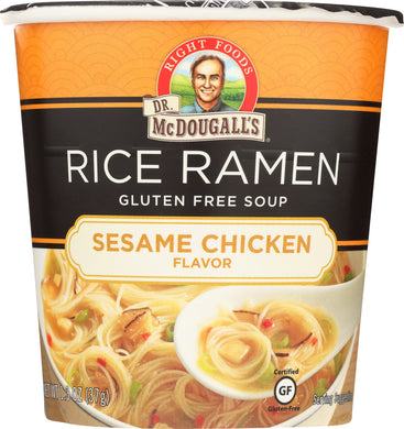 DR. MCDOUGALL'S: Sesame Chicken Rice Ramen Soup, 1.3 oz - Vending Business Solutions