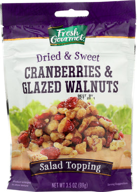 FRESH GOURMET: Cranberries And Glazed Walnuts, 3.5 Oz - Vending Business Solutions