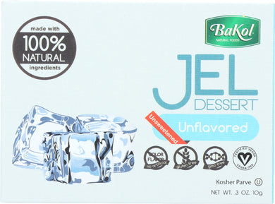 BAKOL: 100% Natural Jel Dessert Unflavored Sugar Free, 0.3 oz - Vending Business Solutions