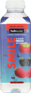 HELLOWATER: Water Mixed Berry Smile, 16 oz - Vending Business Solutions